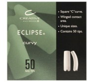 CND Natural Eclipse Tips # 01 50pk  **Clearance Product**