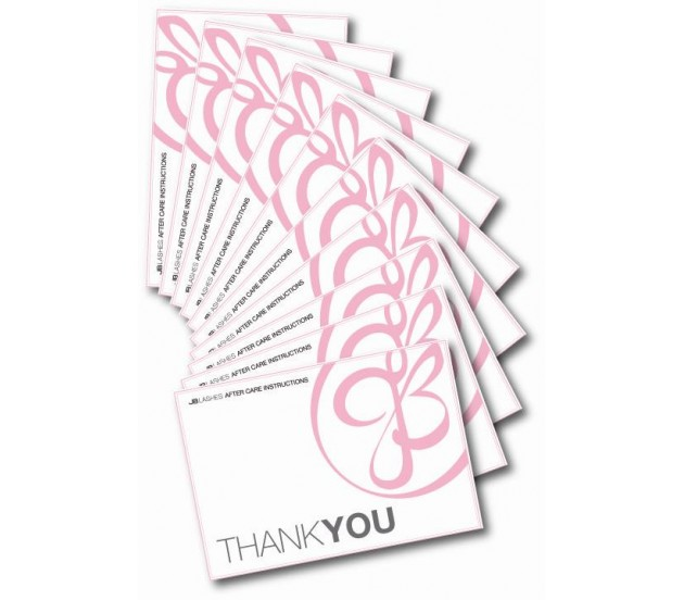 Jb Lashes Thank You Cards Pack Of 50