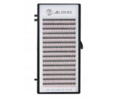 JB Lashes HD Volume Pre-Made 3D Fans D-Curl, 0.07 x 9mm