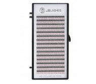 JB Lashes HD Volume Pre-Made 3D Fans D-Curl, 0.07 x 10mm