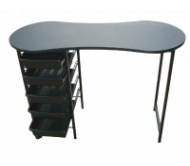 Joiken Kidney Manicure Table Black