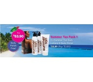 Mancine Summer Tan Pack 2x Lotion + 1x Body Polish