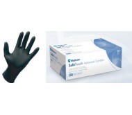 Gloves Nitrile BLACK Powder Free Extra Small 100pk