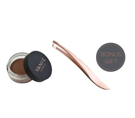 Vani-T Brow & Eyeliner Pomade 4g - BLONDE  with BONUS Rose Gold Tweezer
